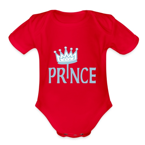 Prince   - Organic Short Sleeve Baby Bodysuit