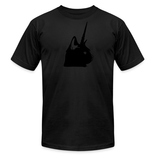 Men's Black Unicat - Men's T-Shirt by American Apparel