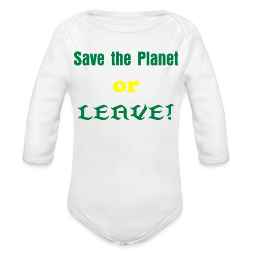 Save the Planet Infant 2 - Organic Long Sleeve Baby Bodysuit