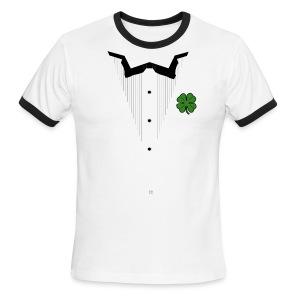 Shamrock Ringer Tuxedo - American Apparel - Men's Ringer T-Shirt