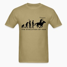 Khaki evolution_cowboy_b T-Shirts