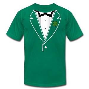 Shamrock Tux in American Apparel - Men's Fine Jersey T-Shirt