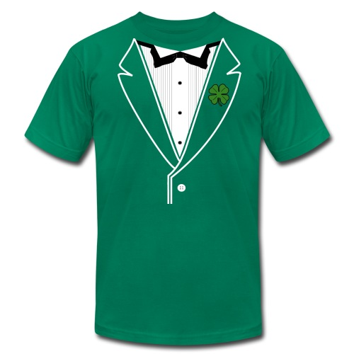 Shamrock Tux in American Apparel - Men's  Jersey T-Shirt