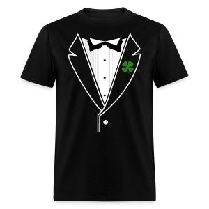 Custom Shamrock Tux in Standard Weight Tee - Men's T-Shirt