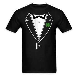 Custom Shamrock Tux in Standard Weight Tee - Men's T-Shirt