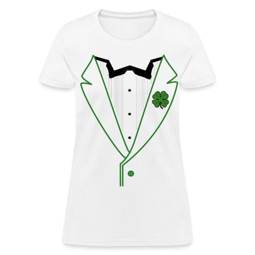 Ladies Shamrock Tux in Standard Weight Tee - Women's T-Shirt
