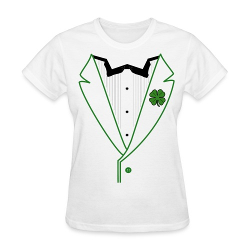 Ladies Shamrock Tux in Standard Weight Tee - Women's T-Shirt