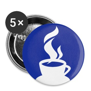 Large Coffee Button - Large Buttons