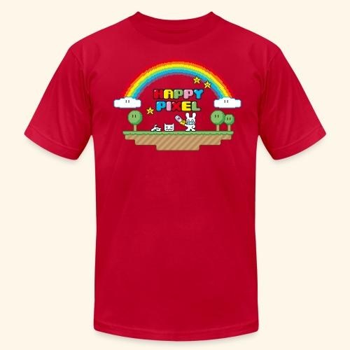 Happy Pixel (R-rated) - Men's Fine Jersey T-Shirt