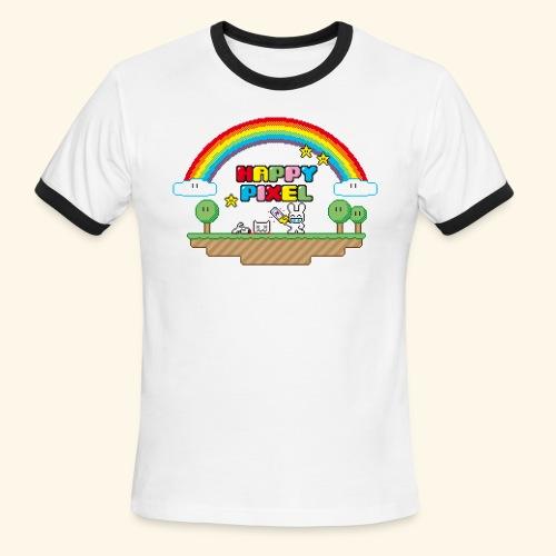 Happy Pixel (R-rated) - Men's Ringer T-Shirt