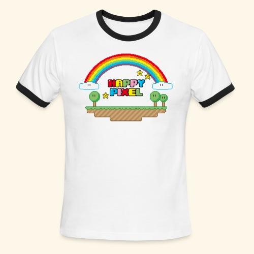 Happy Pixel - Men's Ringer T-Shirt