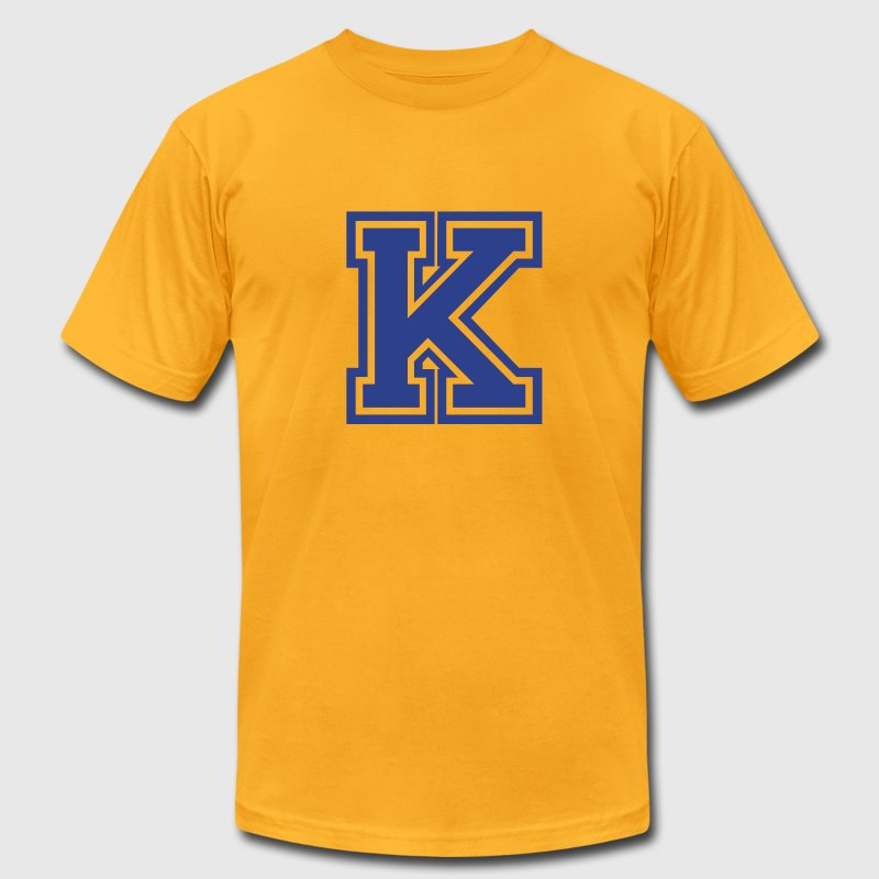 Gold Letter K T-Shirts - Men's T-Shirt by American Apparel