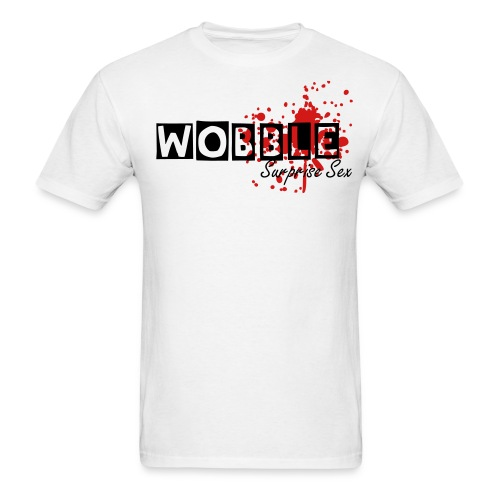 Wobble Surprise Sex White - Men's T-Shirt