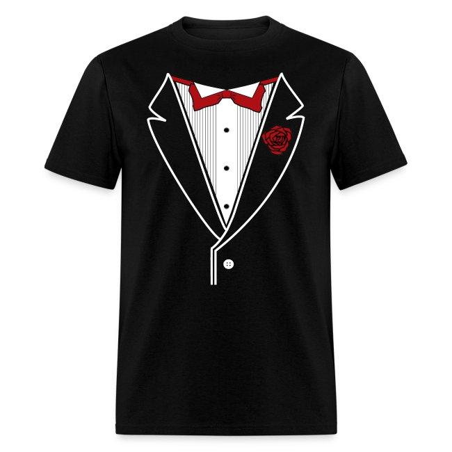 Classic Tuxedo w/ Red Bow Tie