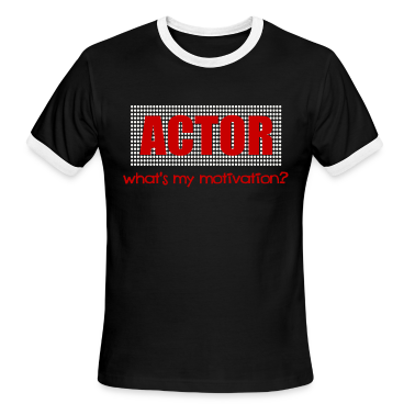 Black/white Actor, What's My Motivation, Dot Marquee, White And Red--DIGITAL DIRECT ONLY T-Shirts