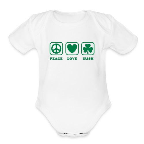 Peace Love Irish - Organic Short Sleeve Baby Bodysuit
