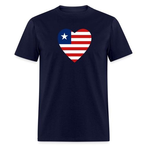 Liberian Heart - Men's T-Shirt