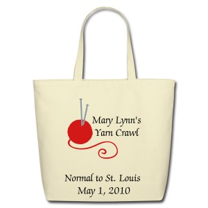 Yarn Crawl (Men's standard weight T) - Eco-Friendly Cotton Tote
