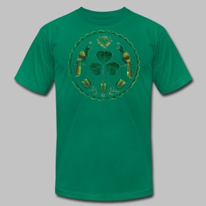 Irish Hex Symbol Men's American Apparel Tee - Men's T-Shirt by American Apparel