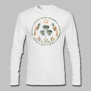 Irish Hex Symbol Men's American Apparel Long Sleeve Tee - Men's Long Sleeve T-Shirt by Next Level