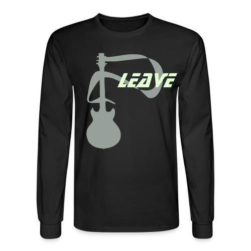 Glow in the Dark Leave with guitar - Men's Long Sleeve T-Shirt