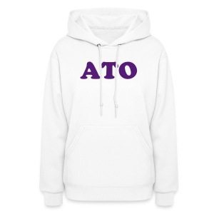 White ATO Hooded Sweatshirt - Women's Hoodie