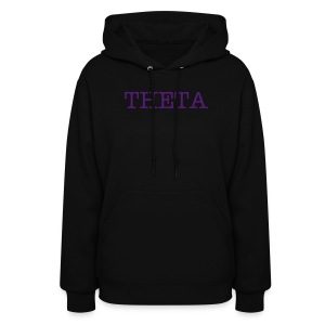 Black Theta Hooded Sweatshirt - Women's Hoodie