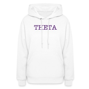 White Theta Hooded Sweatshirt - Women's Hoodie