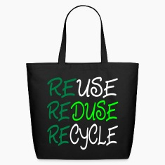 Black ReUse, Reduse, Recycle Bags