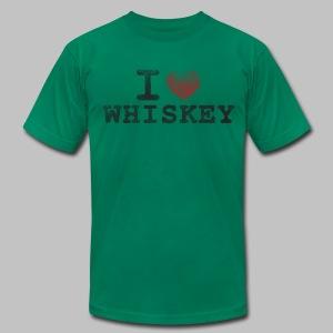 I Heart Whiskey Men's American Apparel Tee - Men's Fine Jersey T-Shirt