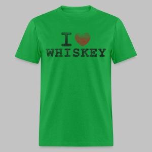 I Heart Whiskey Men's Standard Weight Shirt - Men's T-Shirt