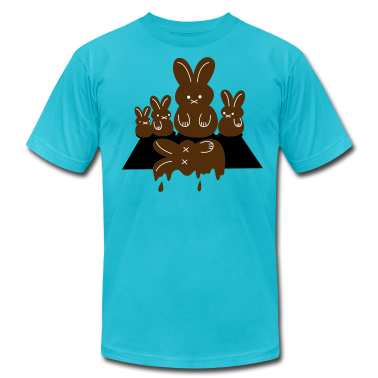 Turquoise easter massacre melting chocolate bunny T-Shirts