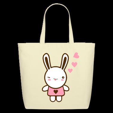 Creme kawaii bunny Bags