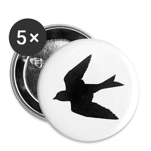 Black Bird Button - Small Buttons