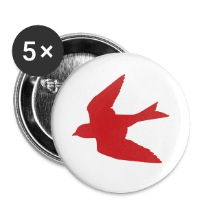 Red Bird Button - Small Buttons