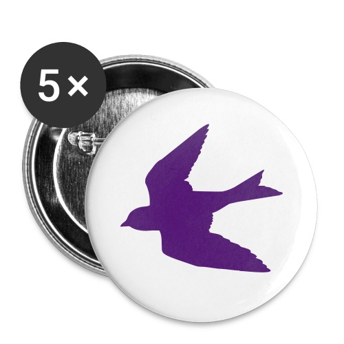 Purple Bird Button - Small Buttons
