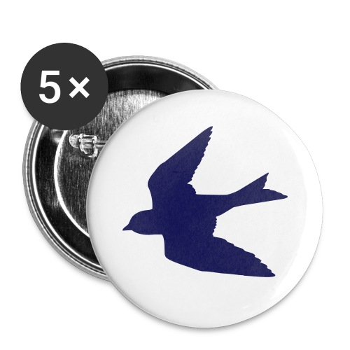 Navy Blue Bird Button - Small Buttons