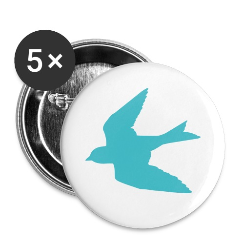 Turquoise Bird Button - Small Buttons