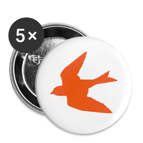 Orange Bird Button - Small Buttons