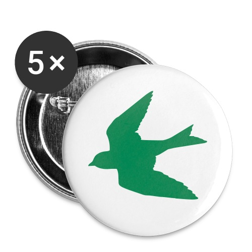 Green Bird Button - Small Buttons