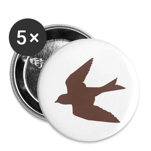 Brown Bird Button - Small Buttons