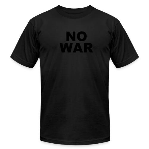 NO WAR tee blk on blk - Men's Fine Jersey T-Shirt
