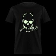 T-Shirts ~ Men's T-Shirt ~ SKULL TATTOO GLOW IN THE DARK T-Shirts on Sale