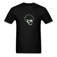 T-Shirts ~ Men's T-Shirt ~ SKULL GLOW IN THE DARK T-Shirts on Sale