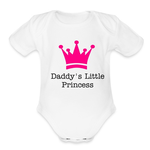 My little princess - Organic Short Sleeve Baby Bodysuit