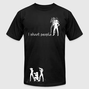 I Shoot People - Men's T-Shirt by American Apparel