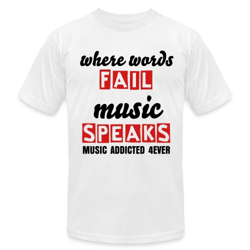 WWFMS - only for MUSIC ADDICTED - Men's Fine Jersey T-Shirt