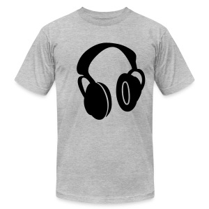 head phones - Men's T-Shirt by American Apparel