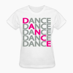 White Dance Dance Dance Two Color Women's T-Shirts