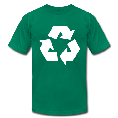 Kelly green recycle T-Shirts